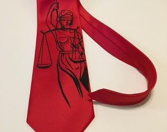 Temida  Necktie, Lady of Justice, Lawyer Tie