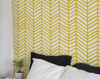 Herringbone Wallpaper, Removable Wallpaper, Nursery Decor, Peel and Stick Wallpaper, Removable, Wall Paper Removable, Wallpaper - A052