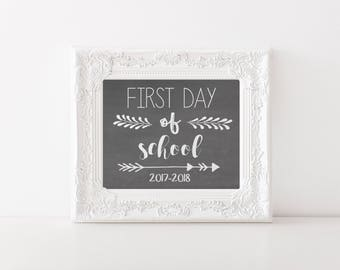 First Day of School Photo Prop, Photo Prop, 2017-2018 photo prop, Chalkboard Photo Prop, School Prop