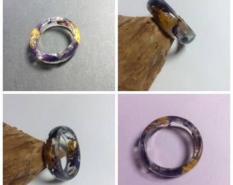 Ring with real petal ring with real flowers