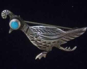 Sterling Silver ,Hand Crafted,Roadrunner pin