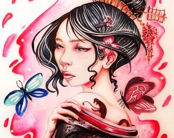 Oriental Girl Print