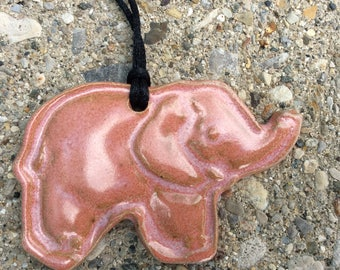 Handmade Good Luck Pink Elephant