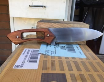 Camping knife open handle