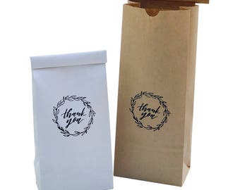 coffee Bean Bags/Coffee Bags/Paper Coffee Bags/Gift Bags/Thank you Goodie Bag