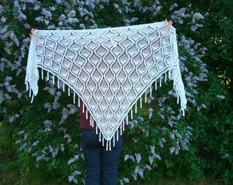 White Shawl Scarf