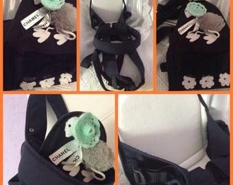 Classy practical port-baby (9 kg). Elegant decorate acrylic crochet.