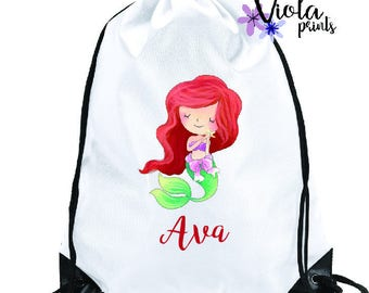 Personalised Girls Princess PE Bag, Ballet Bag, Swim Bag, School Bag, Gym Bag, Childrens Bag Back to School