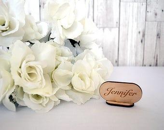 Wedding Name Places - Engraved Name Places - Wedding Table Decor