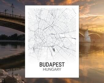 Budapest Hungary Map Print
