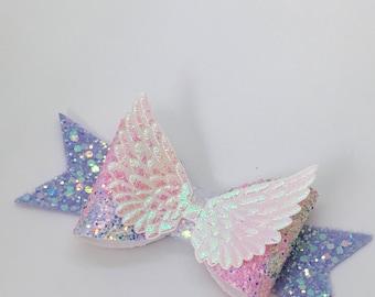 Evangeline Angel wings bow