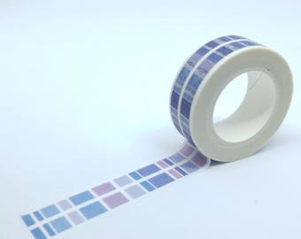 Washi Tape stripe purple gradient 10Mx15mm