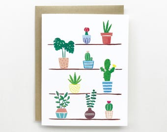 Plants On Self - Everyday Card