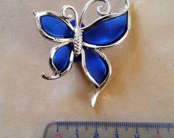 Perle Papillon pierced blue color