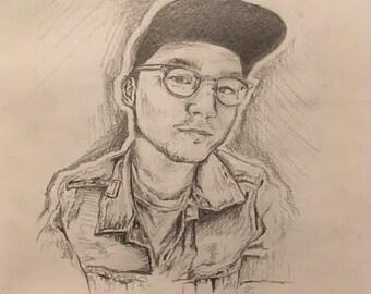 Custom Individual Graphite Portrait