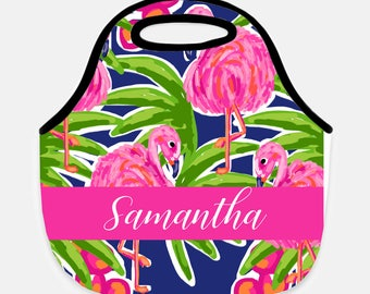 Flamingo lunch tote, Flower lunch tote, Pineapple lunch tote, Personalized lunchbox, Adult lunch tote, Children's lunchbox, Lunchbox, Floral