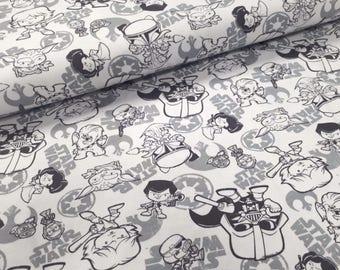 Baby Star Wars JERSEY Fabric, Cotton Jersey Fabric, Knitwear Fabric by the HALF YARD Cotton, star Wars Fabric, Boy Fabric, movie print