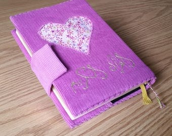 Pink Corduroy Mushaf Cover