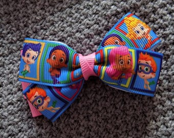 Bubble Guppies are here - Girls hair bow, Hair bow for girls, Hair bow holder,  Birthday gift, Gift for her, Hair accessory