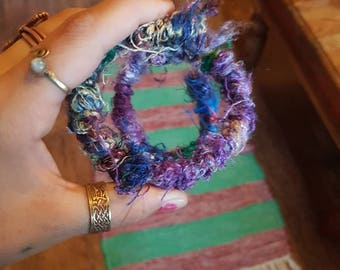 Purple bendy hair tie for dreads