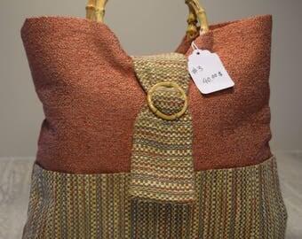 vintage satchel bag handle bamboo handle bag