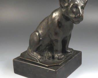 Enchanting 1970's Berta Weimann Bronze Lion Cub Statue