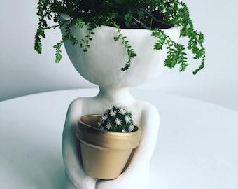 Little dude pot, pottery,