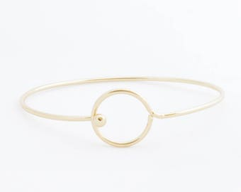 "Bangle Bracelet ""Open Circle"" gold"