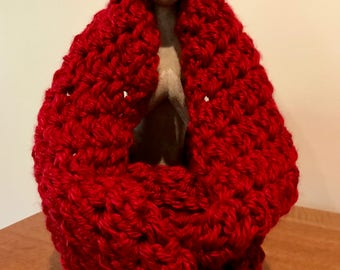 Chunky Infinity Scarf - Hand Crocheted