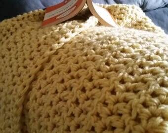 100% Handcrafted Crochet Throw Rug Sunshine