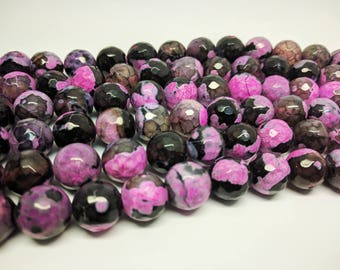 Faceted Beads Agate Beads 12mm Beads 12mm Faceted Beads Round Faceted Beads Faceted Agate Round Faceted Round Agate Big Beads Jewelry Beads