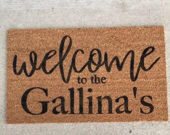Doormat - Custom Doormat - Door Mat -Personalized Doormat - Doormats - Welcome Mat - Name Door Mats - Name Doormats - Custom Door Mat