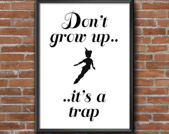 Peter Pan / Disney Print / Customised / A4 Print / A5 Print / Nursery / Kids Room Decor