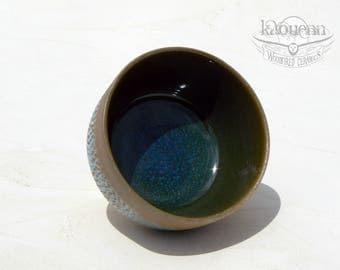 Yunomi, tea cup, white stoneware by KaouennCeramics