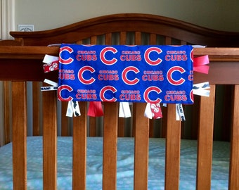 Chicago Cubs Baby, Cubs Lovey Ribbon Blanket, Chicago Cubs Lovey, Cubs Security Blanket, Ribbon Blanket, Cubs Baby Shower Gift