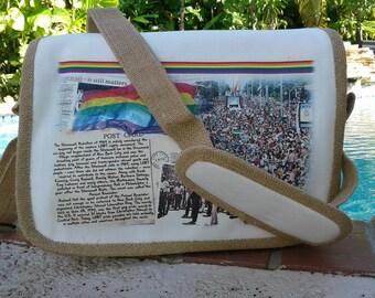 Gay Pride Messager Bag - History of Pride March -Unique Pride Gift