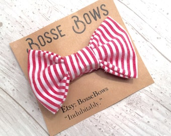 stripe bow tie, red bow tie,  baby bowtie, newborn bowtie, baby boy bow tie, toddler bow tie, kids bow tie, boy bowtie, red and white bowtie