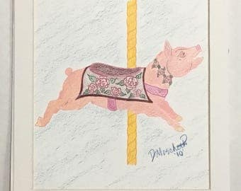 Untitled Carousel Pig