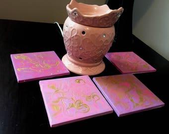 Princess Pink & Gold Decorative Coasters/Tiles