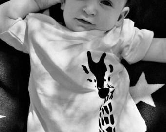 Giraffe T-shirt - Baby sizes - Free Shipping Aus wide