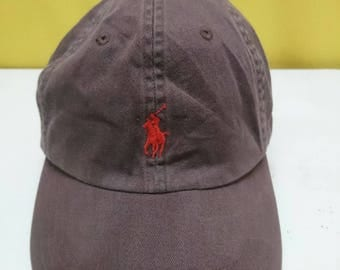Vintage Polo by Ralph Lauren Baseball Caps Dark Brown