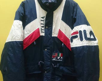 Vintage Fila International Gear Duffel Jacket Rare