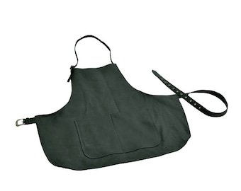Leather apron, BBC, cooking cowhide apron