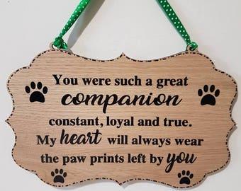 Pet Memorial Gift Memorial Sign Dog Cat Pet Bereavement Pet Memorial Memory of Pet Memorial Pet Pet loss memorial Gift for pet Pet Dog Sign