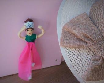 Handmade tulle wire doll, handmade doll