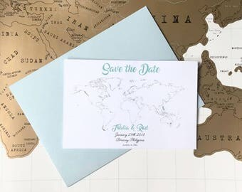 Travel Inspired Save the Date Invitations