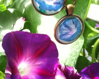 Morning Glory Pendant Necklace