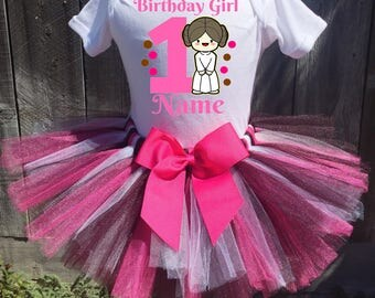 Princess Leia Birthday Outfit, Princess Leia First Birthday Outfit, 1st Birthday Tutu, 2nd Birthday Tutu, Disney Star Wars Birthday Outfit