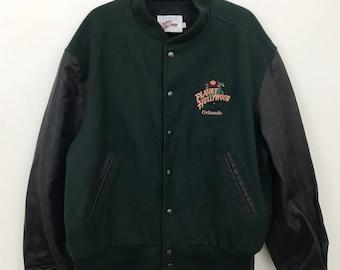 VINTAGE rare Planet Hollywood letterman jacket XL