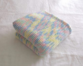 Pastel multi-colored baby blanket